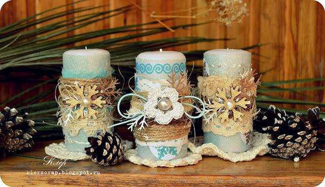 Новогодние украшение свечи своими руками
