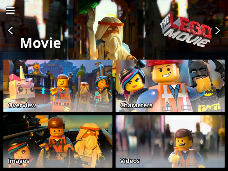 The LEGO Movie Experience Main Game App