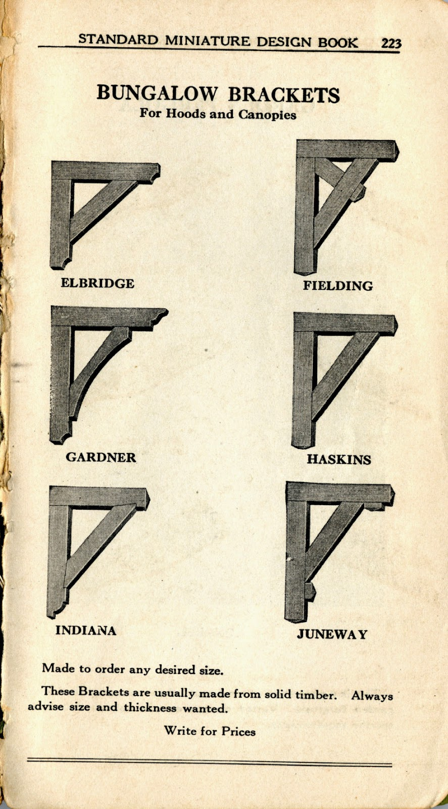 Architecture research bungalow elements for Architectural corbels and brackets