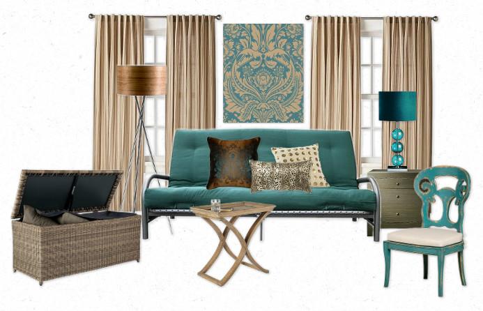 Futon Decor the lovely side: one futon, five ways | studio style