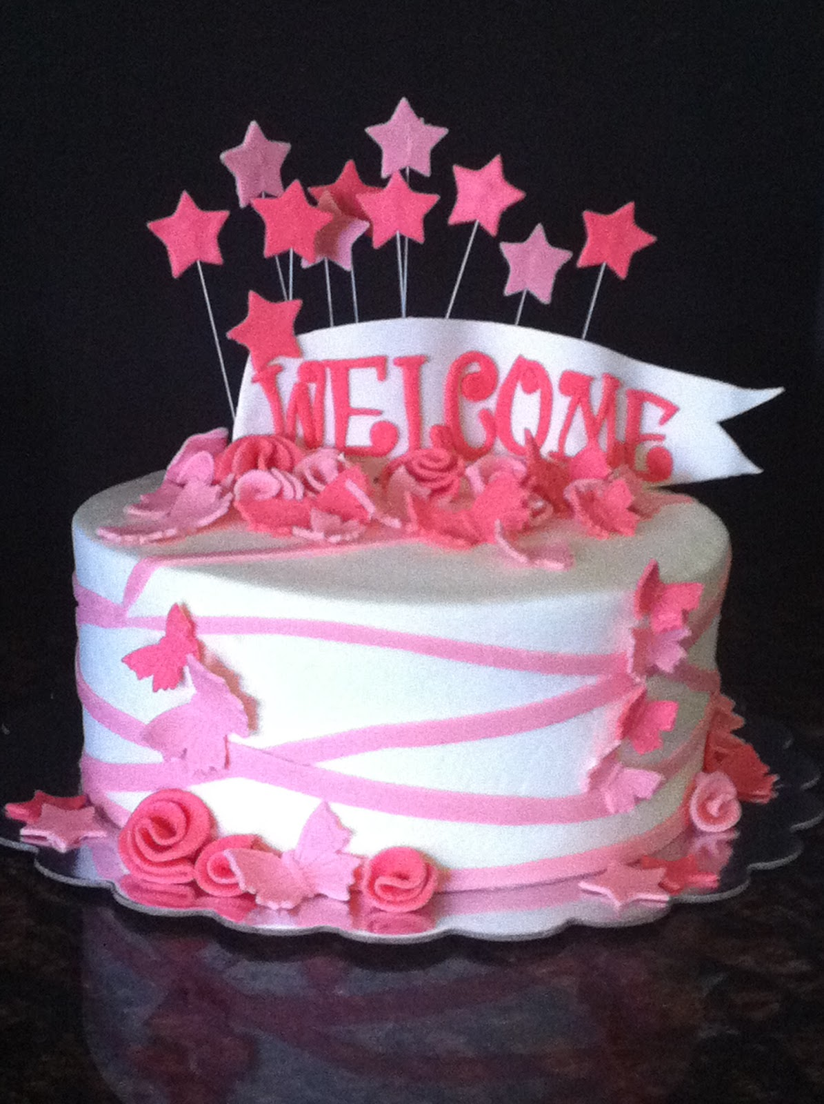 Pink welcome home cake ideas 75133 posted by my sweet zepo for Welcome home cake decorations