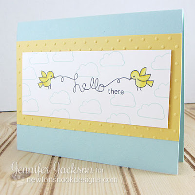 Hello there card using Winged Wishes Stamp set by Newton's Nook Designs