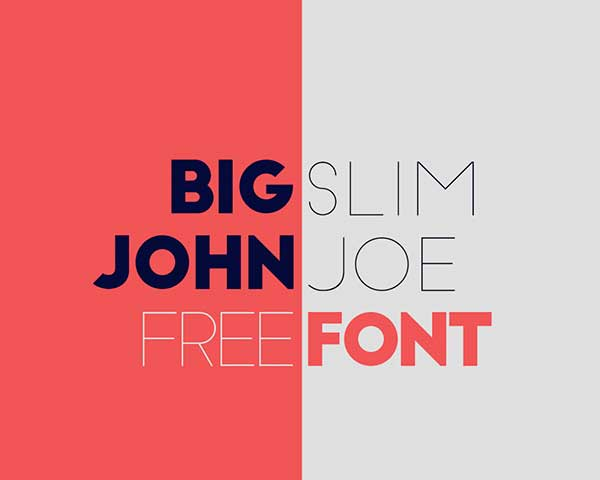 Big John Slim Joe New Free Font