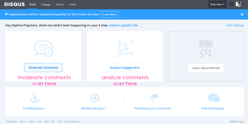 why I use Disqus for managing blog comments