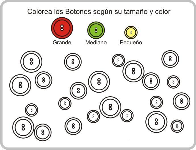 Dibujo de Lamina con Círculos de diferentes tamaños para aprender y ...