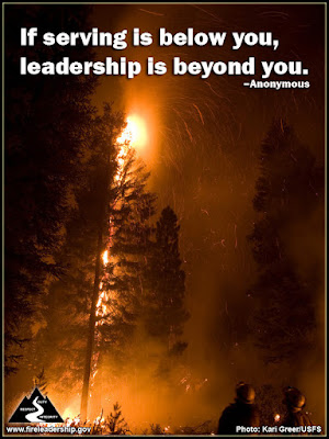 If serving is below you, leadership is beyond you. – Anonymous
