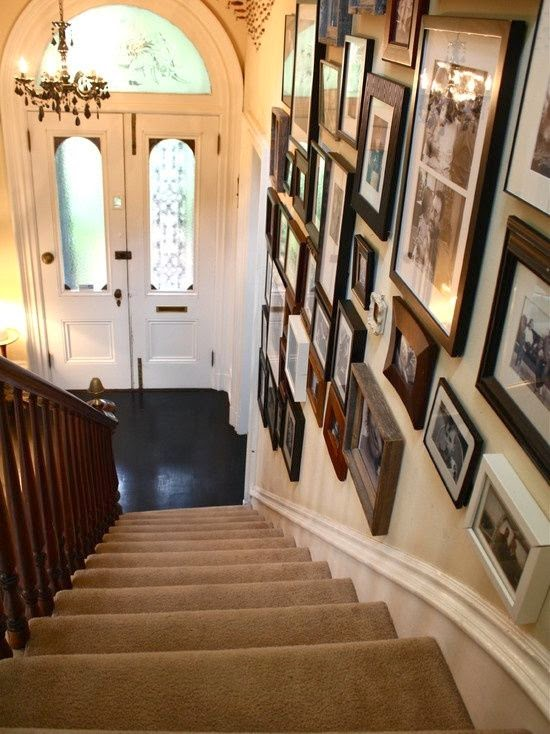 creative staircase wall decorating ideas art frames stairs designs