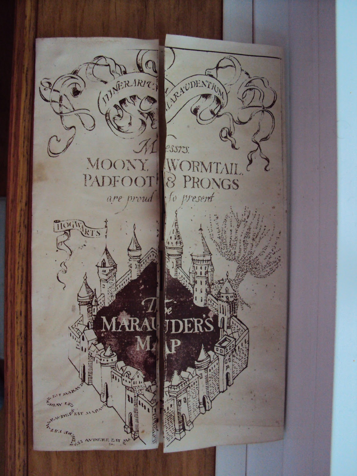 Harry Potter Paraphernalia How to make a Marauders Map Party Version