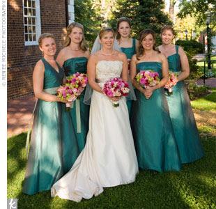 Wedding Flowers Teal Dresses 58