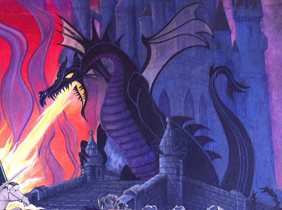 Maleficent dragon painting Disneyland