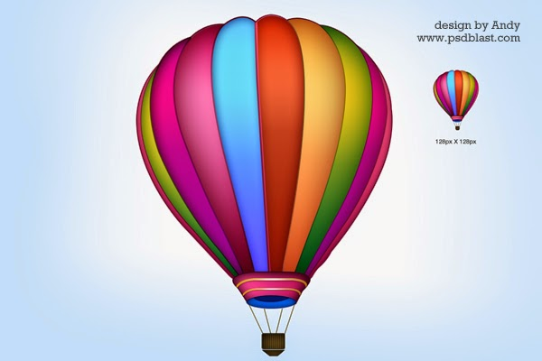 Air Balloon PSD Icon