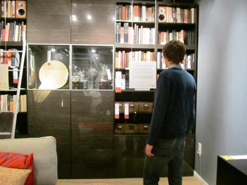 kameron, ikea, show room, books, book shelf