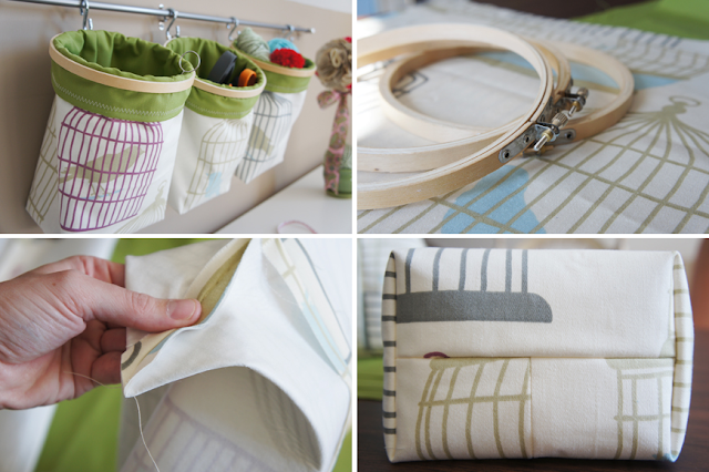 Storage idea from embroidery hoop