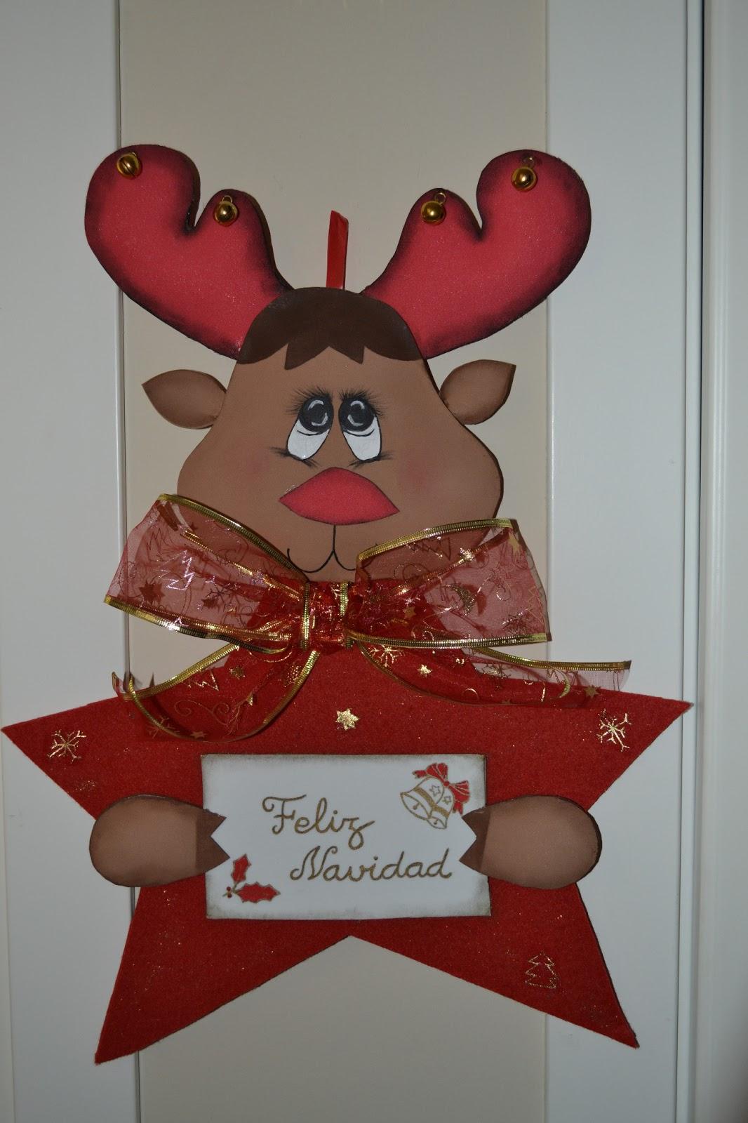 Mis Manualidades De Goma Eva Yolanda Reno Navidad