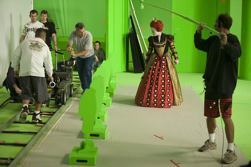 Green screen Alice in Wonderland 2010 animatedfilmreviews.blogspot.com