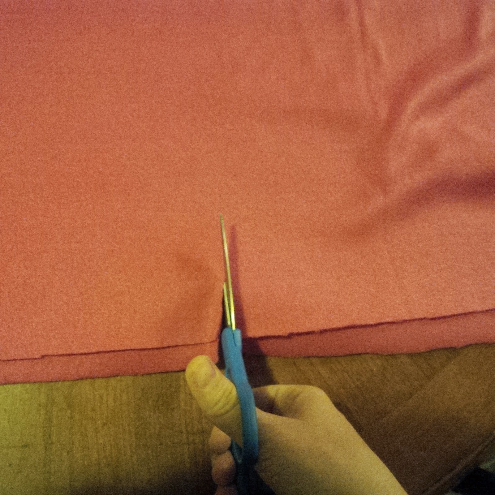 Cutting Keepers of the Faith Banner material to the correct size