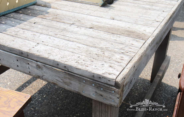 Rustic Potting Bench from old table Bliss-Ranch.com