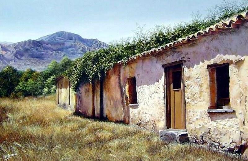 Im genes arte pinturas arte en paisajes pintados con acr lico - Casas viejas al oleo ...