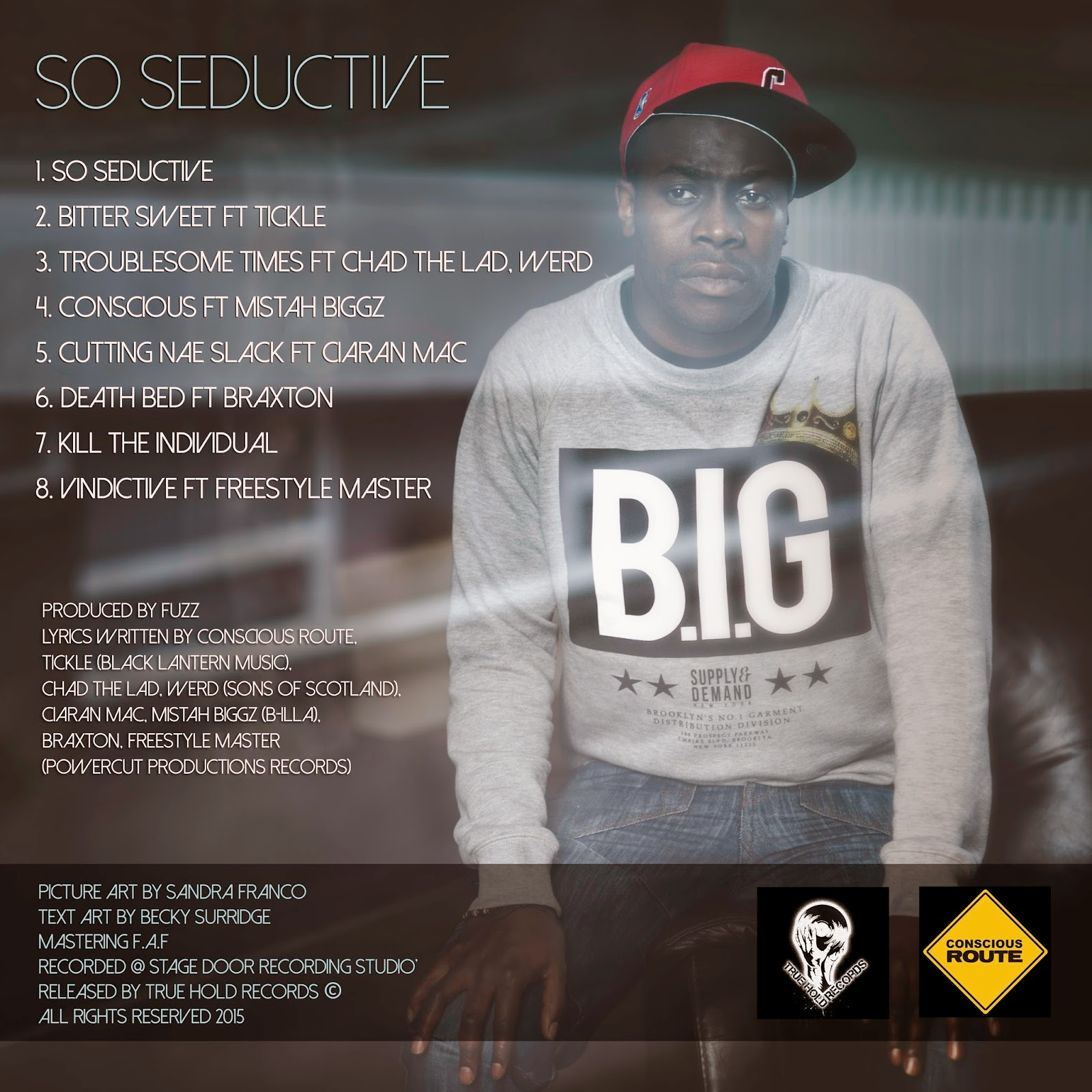 Conscious Route - So Seductive Back Cover Tracklist