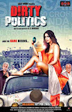 Mallika Sherawat giving pose on a car for poster of Bollywood movie Dirty Politics