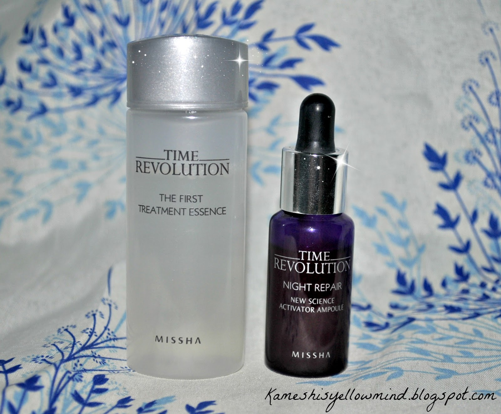 Kameshis Yellow Mind Missha Time Revolution Trial Set First The Treatment Essence And Night Repair Review