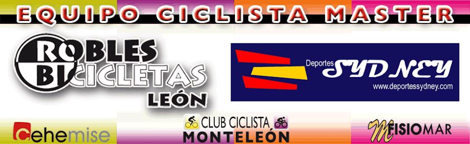 equipo ciclista master robles bicicletas leon plaza