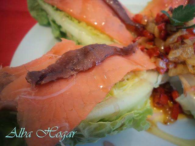 cogollos de tudela salmón y anchoas de santoña alba hogar
