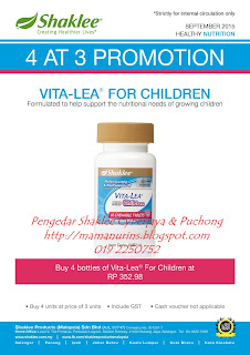 Vita-Lea for Children, shaklee puchong, shaklee cyberjaya