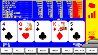 Screenshots of the Video Poker with Double Up for Android tablet, phone.