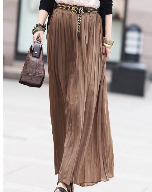 Long brown ruffle skirt – Modern skirts blog for you