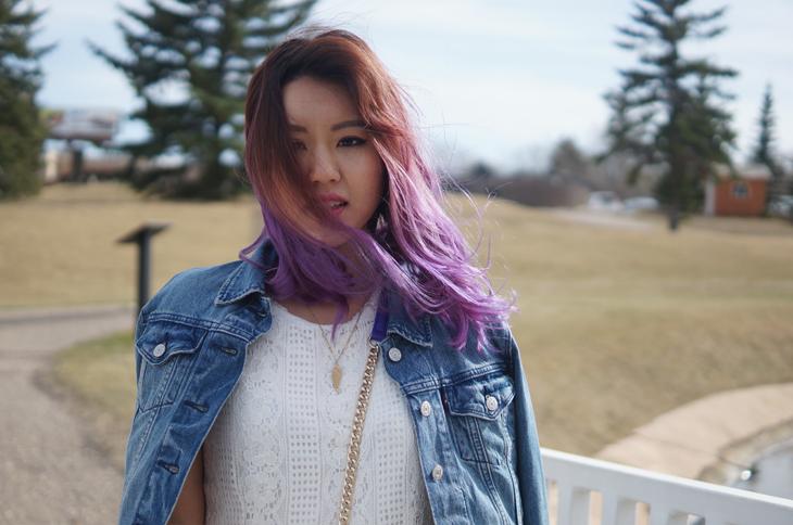 lavender ombre hair dye