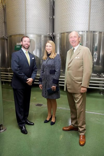 Prince Guillaume, Hereditary Grand Duke of Luxembourg and Stephanie, Hereditary Grand Duchess of Luxembourg visited the Bernard-Massard winery in Grevenmacher