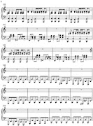 Guns N RosesNovember RainPartitura para piano
