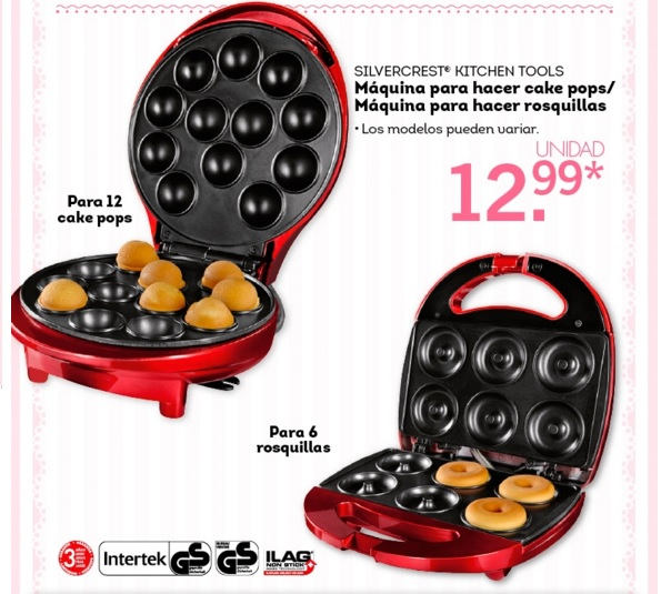 Lidl catalogo m quina silvercrest para hacer cake pops donuts - Maquina hacer donuts ...