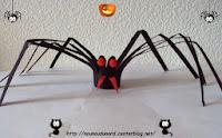 activités manuelles papier wc halloween araignées