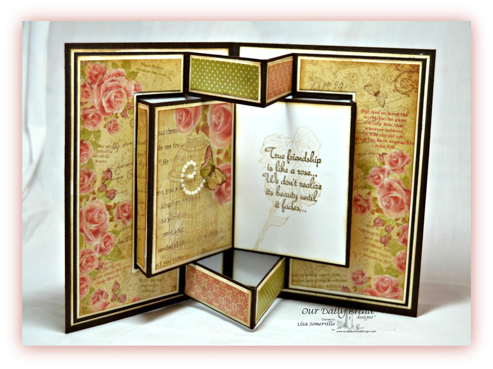 Stamps - Our Daily Bread Designs Rose, My Friend, Faith, ODBD Blushing Rose Paper Collection