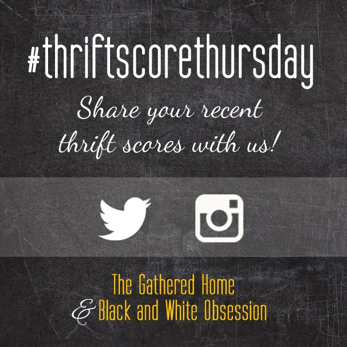 #thriftscorethursday Week 28 | Trisha from Black and White Obsession, Brynne's from The Gathered Home, and Guest Poster: Michelle from Weekend Craft