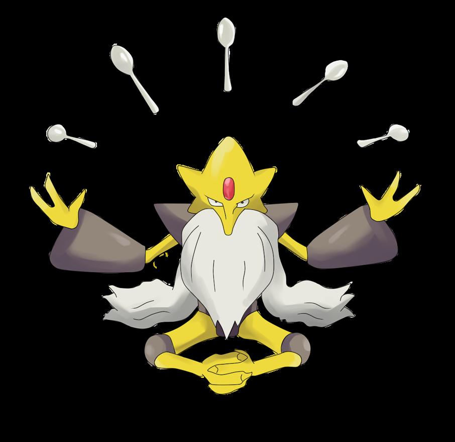 Abra Kadabra Alakazam Mega Alakazam Pokemon By Elo