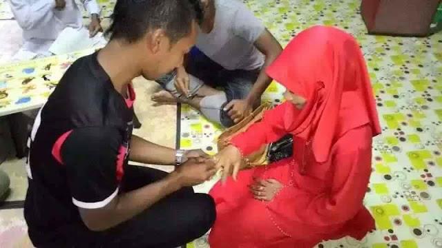 gambar-gambar pasangan pengantin remaja Kelantan dan Terengganu yang bernikah pakai tshirt, bagus ke berkahwin dengan hanya bernikah sahaja,