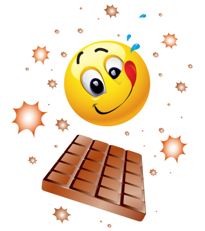 Emoticon loves chocolate