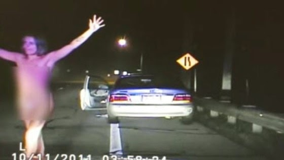 naked  speeding  drunk  stupid    busted   video