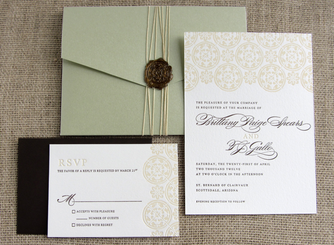 been more thrilled to have been involved in her wedding invitations