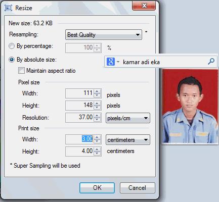 Cara memperkecil ukuran piksel gambar