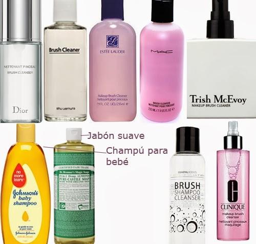 limpiar pinceles de maquillaje