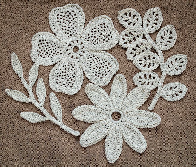 Outstanding Crochet: New project- Irish Crochet Motifs.