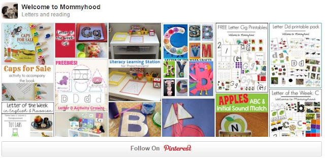 Welcome to Mommyhood Letters and Reading Pinterest Board
