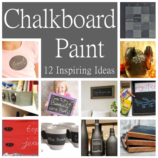 Diy home sweet home 12 inspiring ideas for using for Chalkboard paint ideas