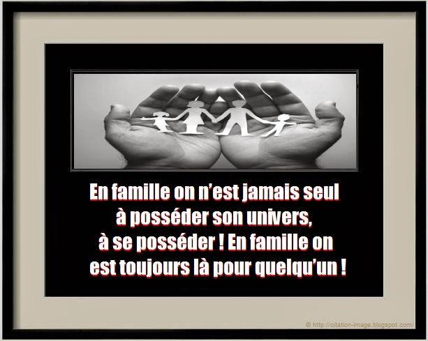 Citation famille heureuse en image