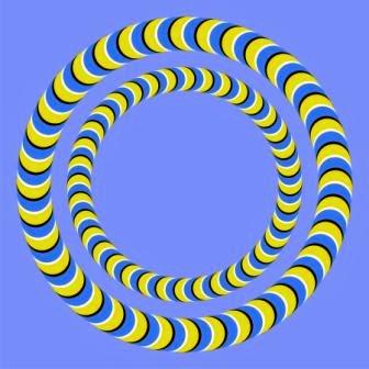 ilusiones opticas, movimiento, anillos, circulos concentricos, círculos concéntricos, efectos visuales, ilusiones ópticas, círculos que gira, circulos girando,