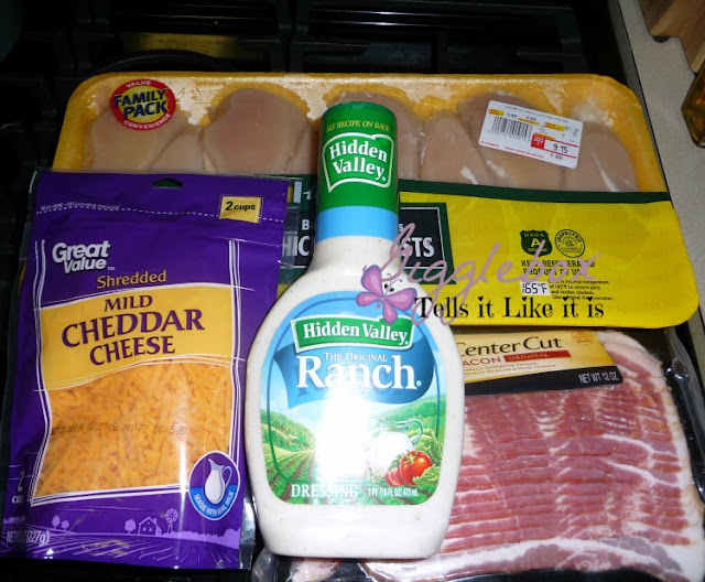 four ingredient chicken meal that is delicious and moist, banch ranch chicken,
